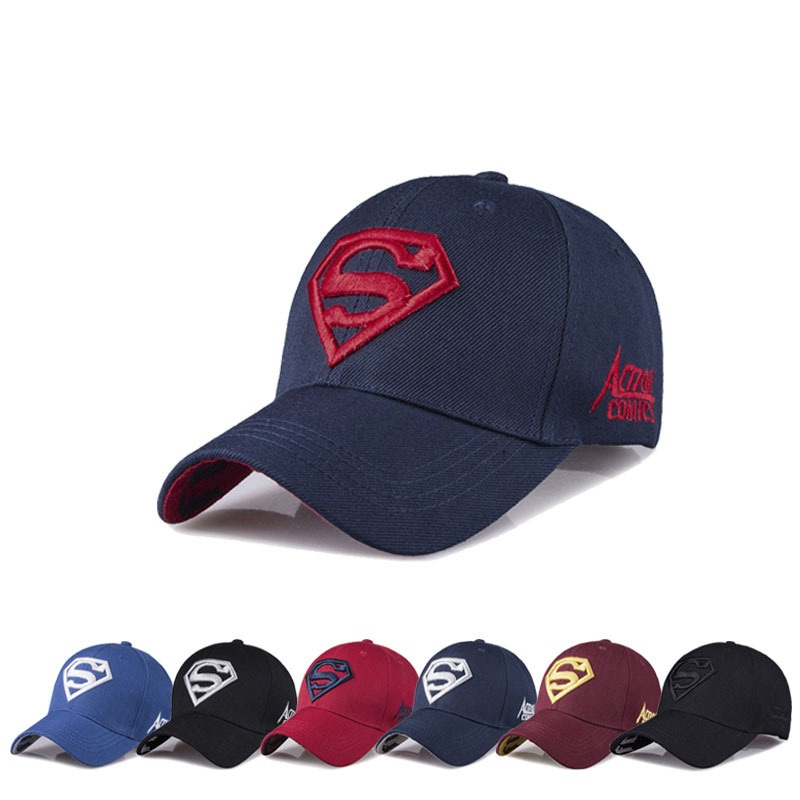 New Letter Superman Cap Casual Outdoor Baseball Caps For Men Hats Women Snapback Caps For Adult Sun Hat