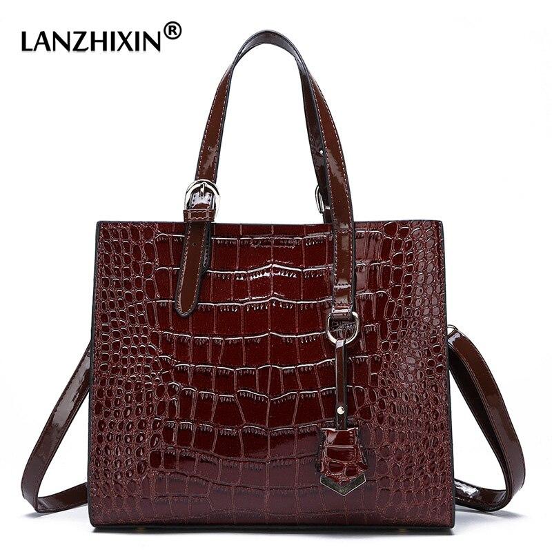 Top-handle Bags For Women Messenger Bags Tote Crocodile PU Leather Casual Female Handbags Ladies Shoulder Bags Vintage Wholesale