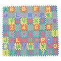 72 pcs Bebê Crianças EVA Foam Mat Número Letras Do Alfabeto 3D Puzzles Brinquedos Educativos Para O Desenvolvimento Suave infantil Rastejando tapetes