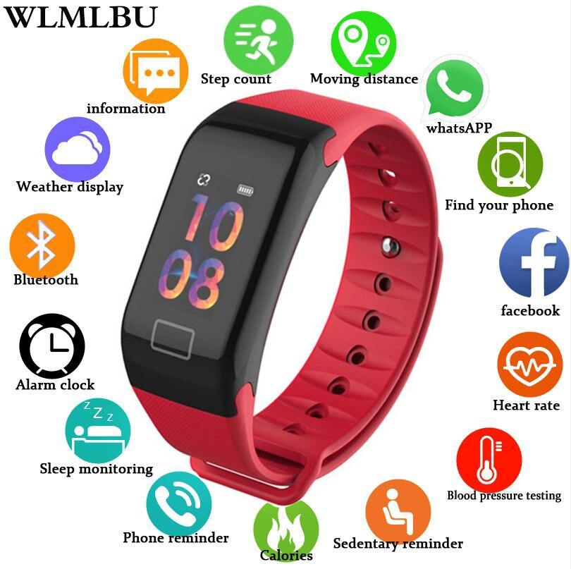 2019 Nouveau montre-bracelet intelligente Fitness Fréquence Cardiaque Sang Pression Podomètre montre de sport Smartwatch homme femme Pour IOS Android