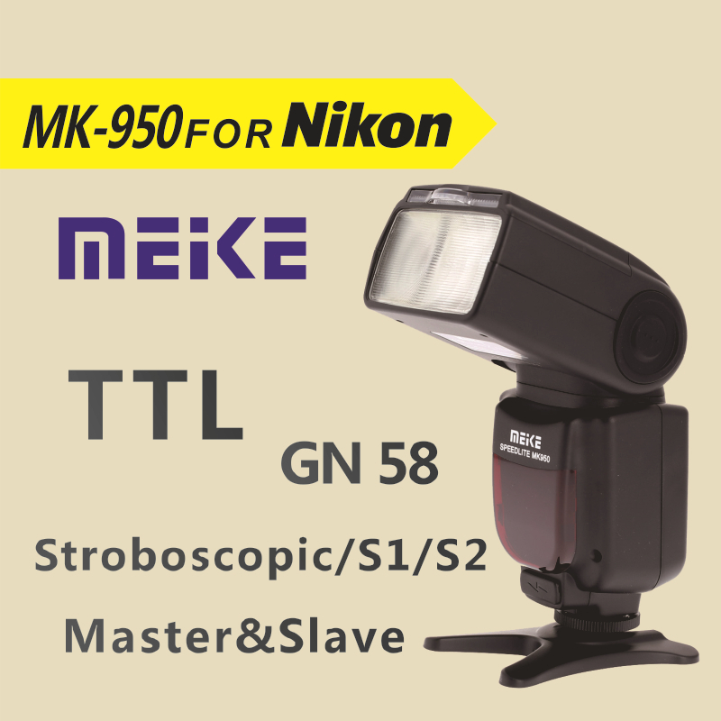 Meike MK950  i-TTL Speedlite 8 Bright Control Flash mk950 for Nikon D7100 D7000 D5200 D5100 D5000 D3100 D3200 D600 D90 D80 D60 meike mk 950 mark ii ttl slave wireless flashgun speedlite flashlight for nikon
