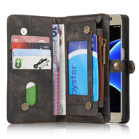 CASEME For Galaxy S7 Leather Cases CASEME Retro Multifunctional Split Leather Wallet Case For Samsung Galaxy