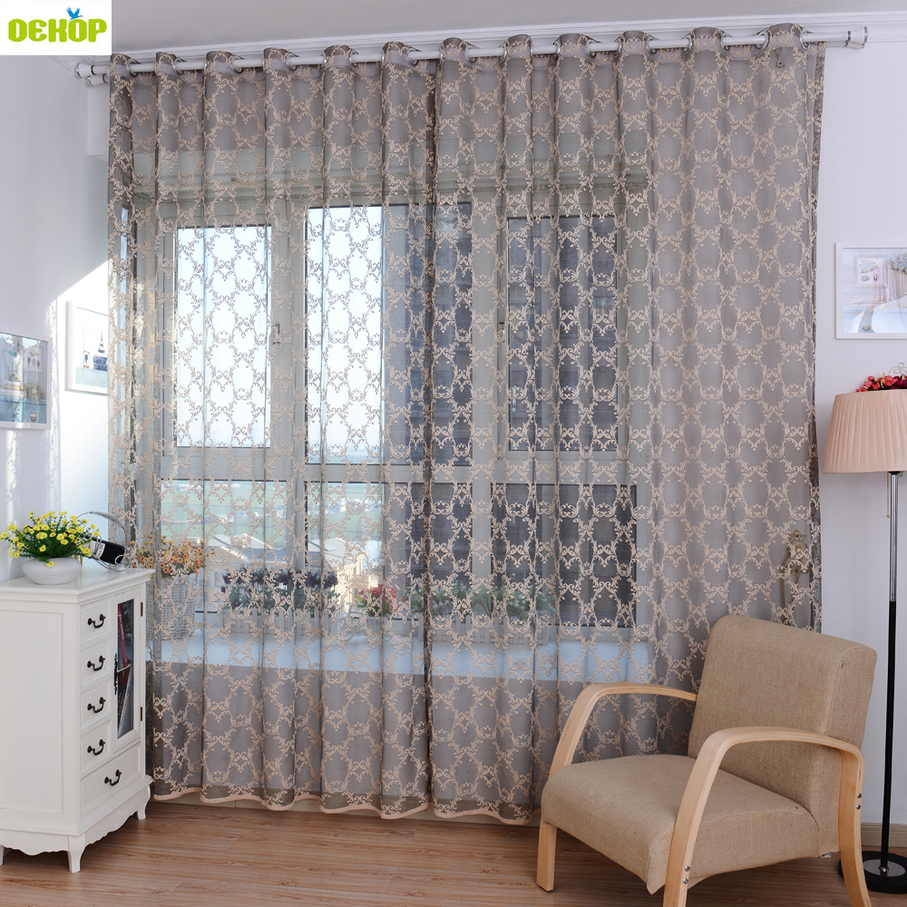 Curtain For Balcony: DEKOP Window Curtains Sheer Voile Tulle For Bedroom Living