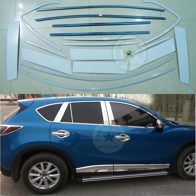 Voor Mazda CX 5 chrome window frame/raamdecoratie/trim, fabriek ...