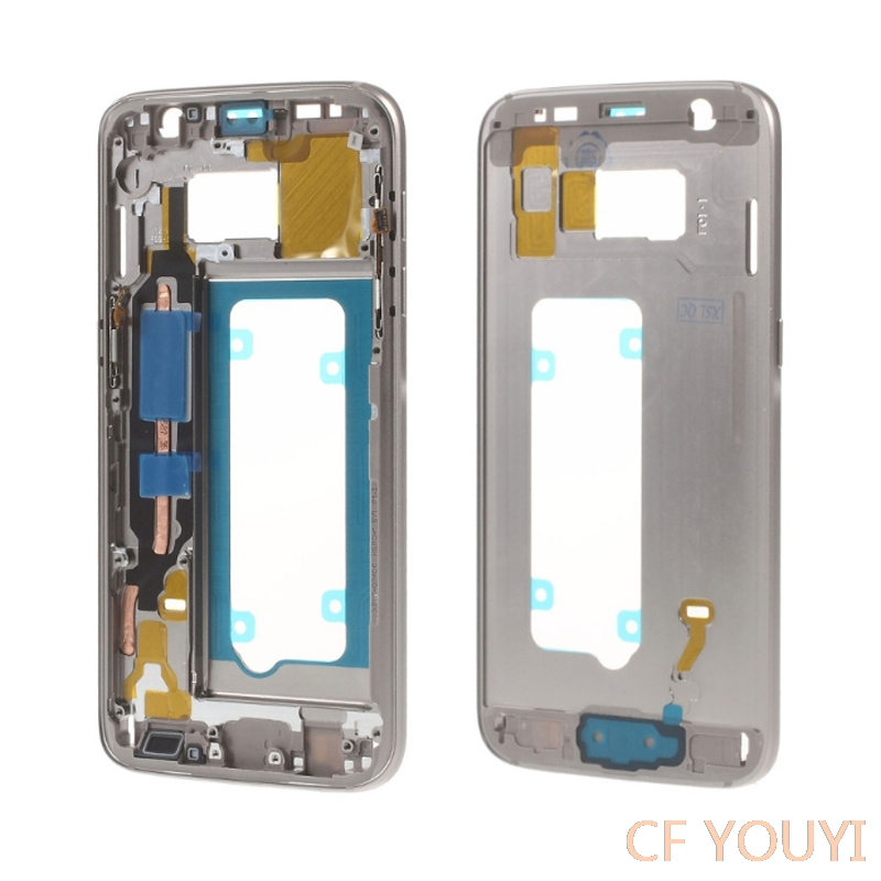 5pcs lot For Samsung Galaxy S7 G930F Mid Middle Plate Frame Housing with Small Parts Gold