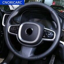 CNORICARC Volante Cornice Copertura Decorazione Assetto Per Volvo S90 2015-18 XC60 2018 Chrome ABS accessori per interni Auto