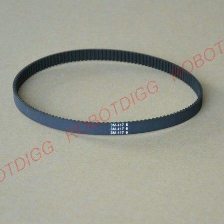 HTD 3M, Timing Belt, Closed-loop, 417mm length, 139 teeth, 6mm widthHTD 3M, Timing Belt, Closed-loop, 417mm length, 139 teeth, 6mm width