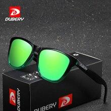 DUBERY Vintage Sunglasses Polarized Mens Sun Glasses For Men UV400 Shades Driving Black Square Oculos Male 8 Colors Model 181