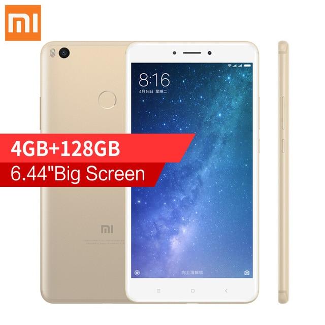 "Oryginalny xiaomi mi max 2 6.44 ""Telefon komórkowy 4 GB RAM 128 GB Snapdragon 625 Octa Rdzeń 1080 P OTG 5300 mAh Baterii Smartphone 12.0MP"