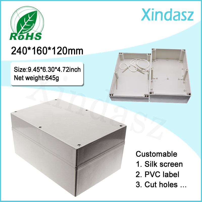 цены  Waterproof Electrical Enclosure Box IP66 plastic box enclosure electronic Junction Box 240*160*120mm