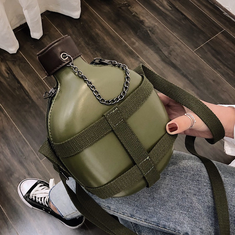 Personality Kettle Style Pu Leather Casual Shoulder Bag Vintage Tote Crossbody Mini Messenger Bag Clutch Bag Women Purse Flap