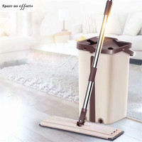 Mop Cleaning Cloth Head Bucket Combination Wooden Floor Ceramic Tile Automatic Mop Quick Dry Home Cleaning Tools Limpieza Hogar