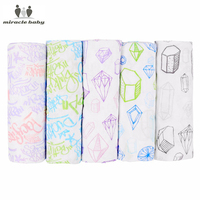 MIRACLE BABY PRE-WASHED Super Cotton Soft Baby Receiving Blanket Muslin Swaddle wrap Kid's Nursing Cover Bedding Baby Swaddle