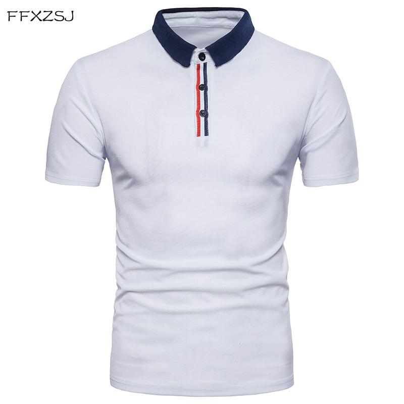 FFXZSJ 2018 high quality summer fashion men casual simple Euro zipper design Lapel short sleeve   POLO