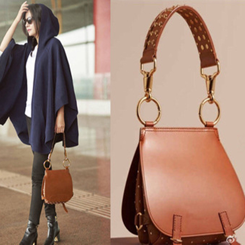 ФОТО New Rivets and Mallets Saddle Women Messenger Handbag Fashion Women Shoulder Bag Diagonal Package Airport Show Casual Handbag