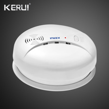 цена на Wireless Smart House Sensitive Photoelectric Smoke Detector Fire Sensor Cordless For GSM Security Home Alarm System