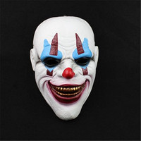 Christmas Halloween Mask Batman Clown Robbers Movie Counterattacks Protection Horror Funny White Resin Mask 1Pcs Masquerade Mask