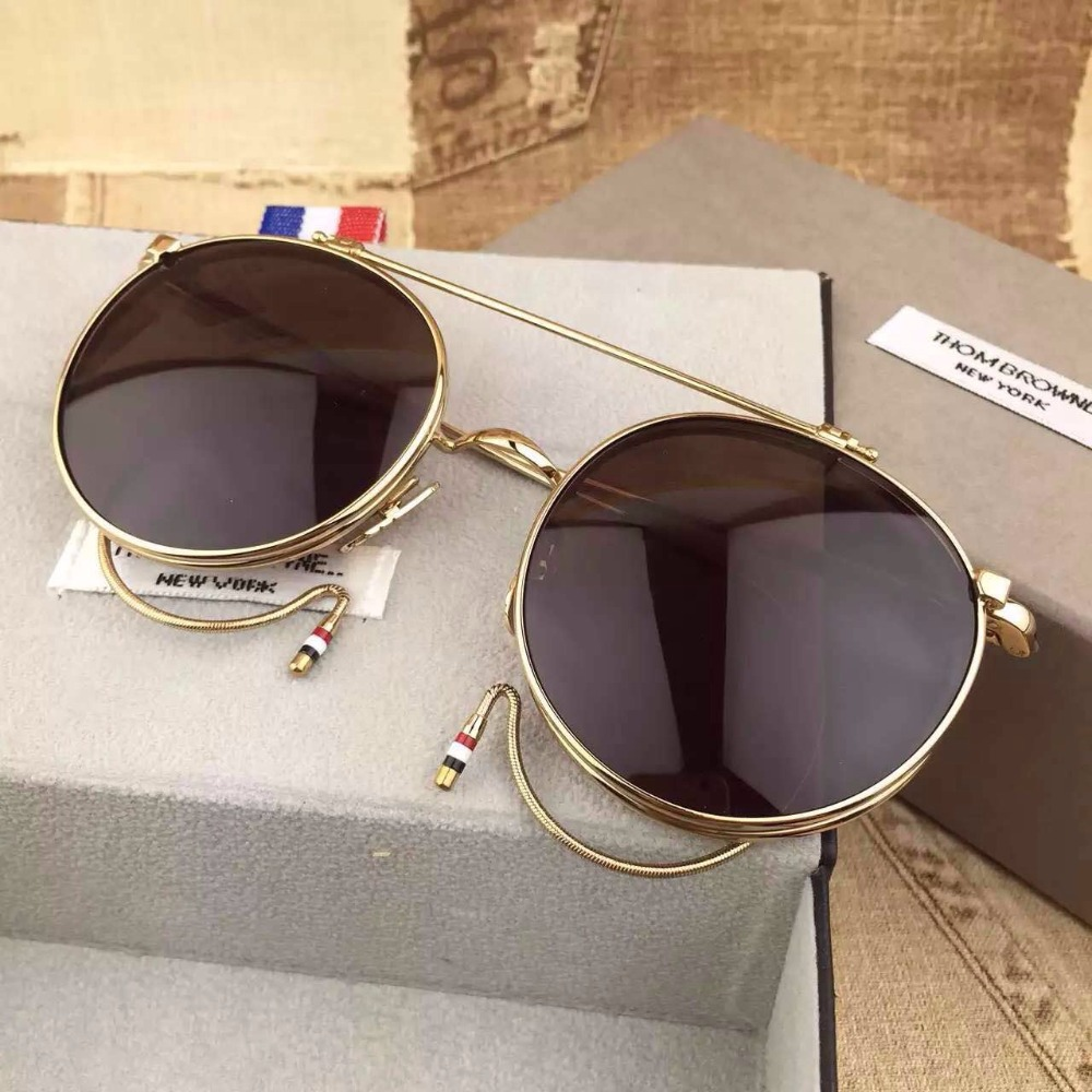 569fe786c0c4 Thom Browne Eyewear TB 001 Sunglasses retro flip sun glasses steampunk  Titanium Acetate FrameGlasses lunette de soleil femme-in Sunglasses from  Apparel ...
