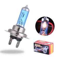 2pcs H7 55W 12V Halogen Bulb Super Xenon White Fog Lights High Power Car Headlight Lamp Car Light Source parking