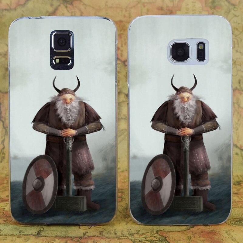 E0615 Old Viking Transparent Hard PC Case Cover For Samsung Galaxy Note 3 4 5 7 S 3 4 5 6 7 Mini Edge Plus