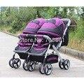 Cochecitos de niños, de alta calidad de los gemelos cochecito, cochecito doble asiento, prueba del choque cómodo gemelas cochecitos cochecito de bebé portador