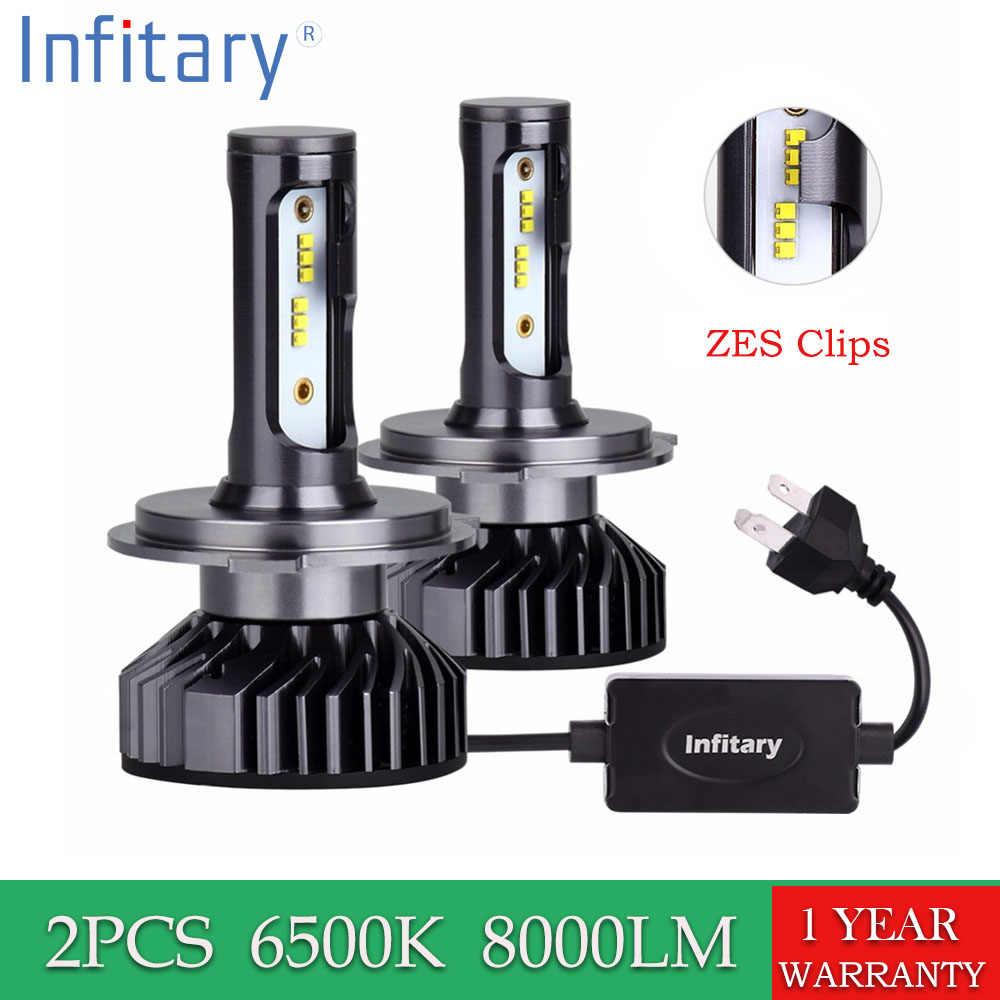 2 PCS H4 Led Headlight Bulb H7 LED H1 H3 H8 H11 9005 HB3 9006 HB4 9007 Chips ZES 8000LM 6500K 12V Auto Fog Light Car Lamp