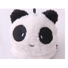 VISNXGI Women 2017 NEW Gilrs Black White Small Panda Design Pad Fluffy Ear Warmer Earmuffs Winter Cute Panda Ear Muff Warmer