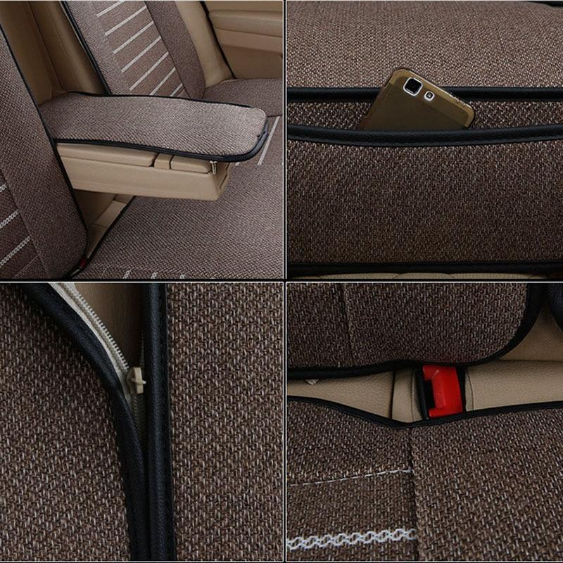 kətan Universal avtomobil oturacağı örtüyü Buick vw üçün - Avtomobil daxili aksesuarları - Fotoqrafiya 6