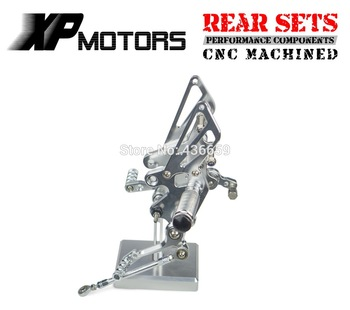 Silver Race CNC  Adjustable Foot Pegs Rear Sets For Kawasaki Ninja 250R EX250 2008 2009 2010 2011 2012 2013