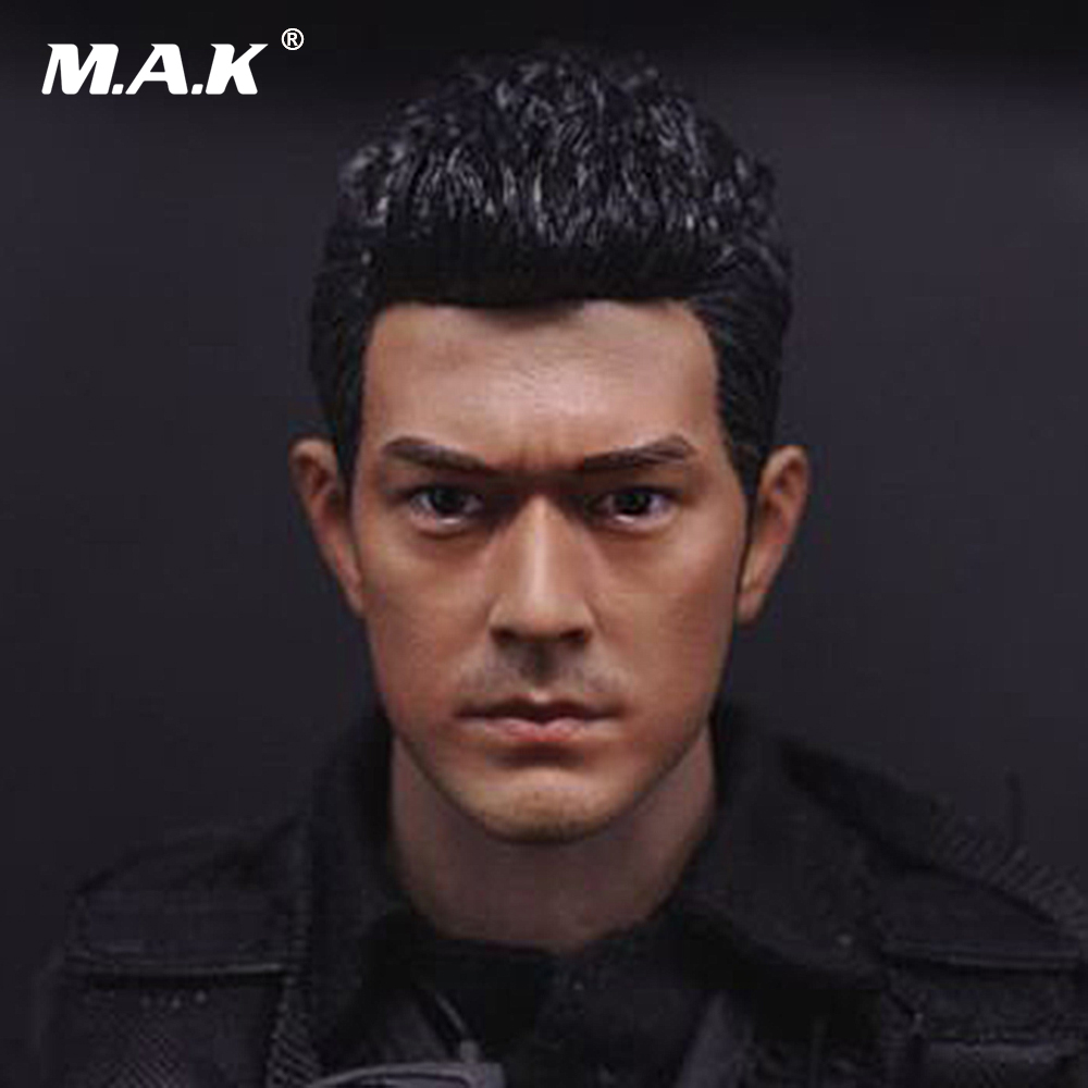 Asian Male Star 1/6 Scale Head Sculpt Lau Andy Liu Dehu/Daniel Wu/Takeshi Kaneshiro Head Carving Model for 12 Figure 1 6 scale takeshi kaneshiro mens head sculpt for 12 inches male action figures bodies