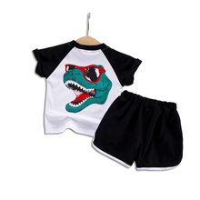 Baby summer suit 2019 new childrens tide boys handsome boy short sleeve kids clothes