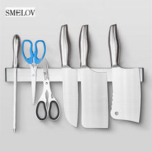 Magnetic Knife Holder Stainless steel Storage Rack Self-adhesive Wall-Mounted organizer Kitchen accessories
