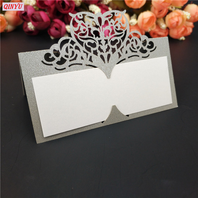 Us 5 07 49 Off 50pcs Laser Cut Table Names Card Place Name Card Wedding Seat Card For Wedding Party Anniversary Celebration Supplies 5zsh871 In