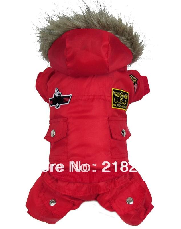 Nueva llegada de espesor Aire caliente Hombre estilo Mascotas Perros Abrigo de invierno Ropa nueva para traje de perro