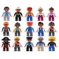Большие размеры фигурки город принцесса пират полицейские семейная серия строительные блоки совместимый бренд Duploes развивающие игрушки