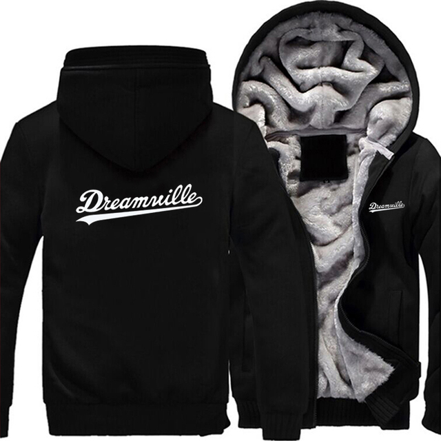 Dreamville Thicekn Hoodie Dreamville merch  Warm Hoodie Sweatershirt Dreamville J Cole Winter Fleece Zipper Coat Hoodie