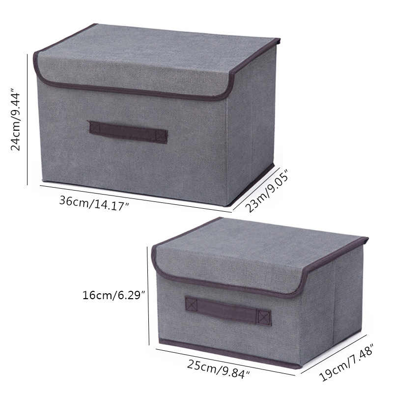 2 размера бытовой портативный ящик пыленепроницаемое белье Органайзер Ящики Для Хранения нижнего белья бюстгальтер Упаковка Макияж Косметический матерчатый мешок для хранения