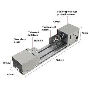 Image 2 - 12 24v mini torno máquina ferramentas torno padrão conjunto diy carpintaria buda pérola moagem polimento mini grânulos máquina