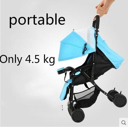 ФОТО Baby stroller ultra-light portable folding shock four wheel push umbrella car bb baby child small baby car