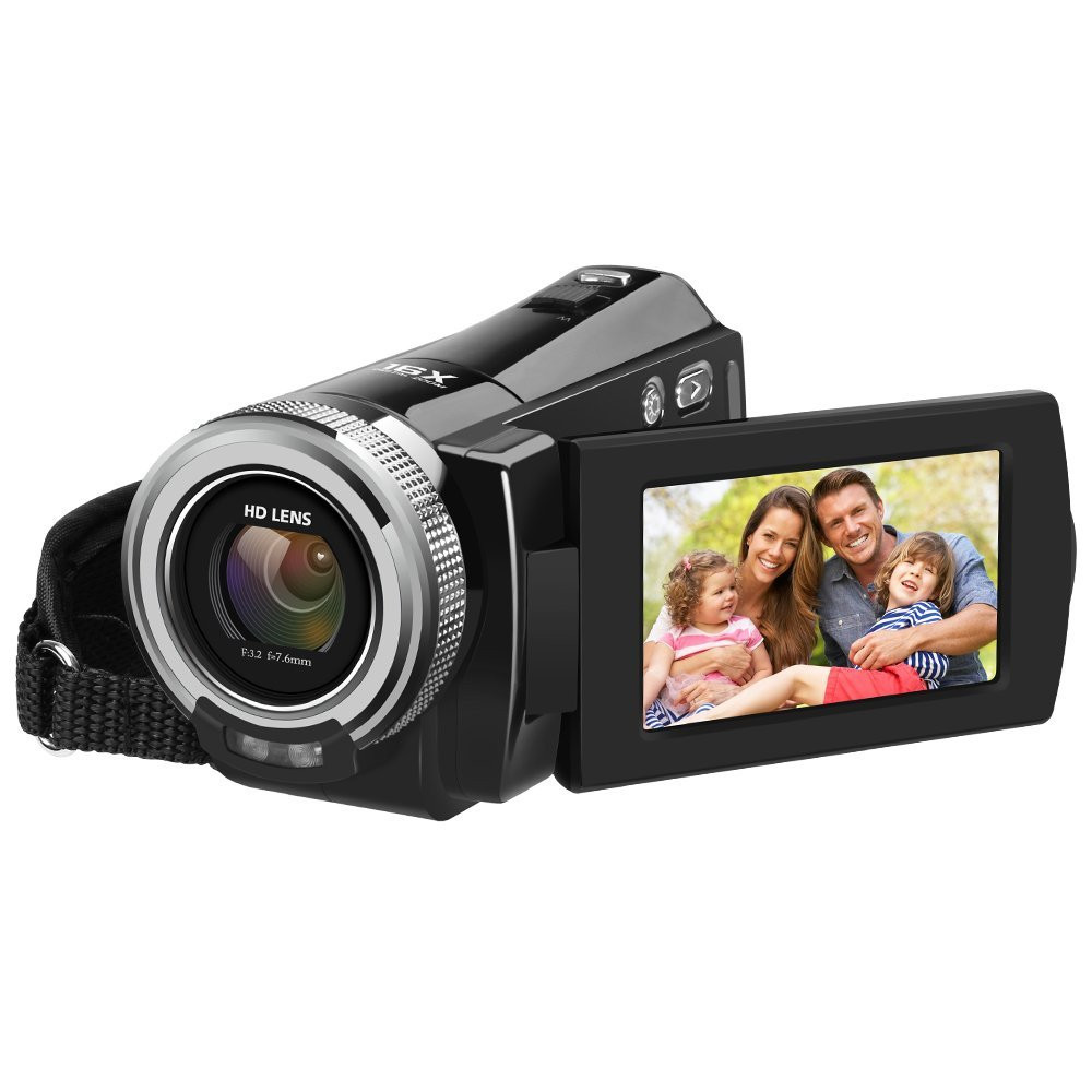ORDRO 720P Camcorder Ordro DV-108 With 2.7 inch LCD 16MP HD Digital Video Camera 16X Zoom With High-end CMOS Sensor Camcorder DV 5mp cmos digital video camcorder w 16x digital zoom hdmi sd black 3 lcd