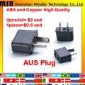 Универсальный Австралия 3 шт. Х США AUS Электрический AC power plug путешествия Адаптер Конвертер Бесплатная доставка