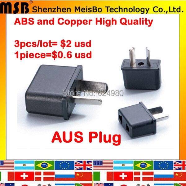 Universal Australia 3pcs X US to AUS Electrical AC power plug travel Converter Adapter Free shipping