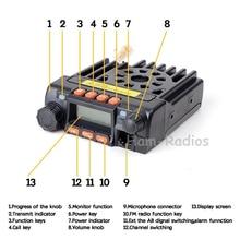 QYT Mini double bande véhicule monté 136-174/400-480 MHz 25 W longue portée émetteur-récepteur Mobile Radio bidirectionnelle talkie-walkie