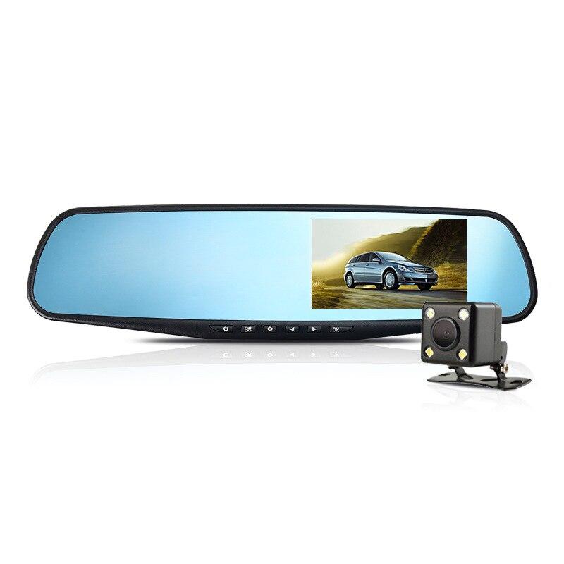 2017 Car DVR Camera Rearview Mirror Auto Dvr Dual Lens Dash Cam Recorder Video R