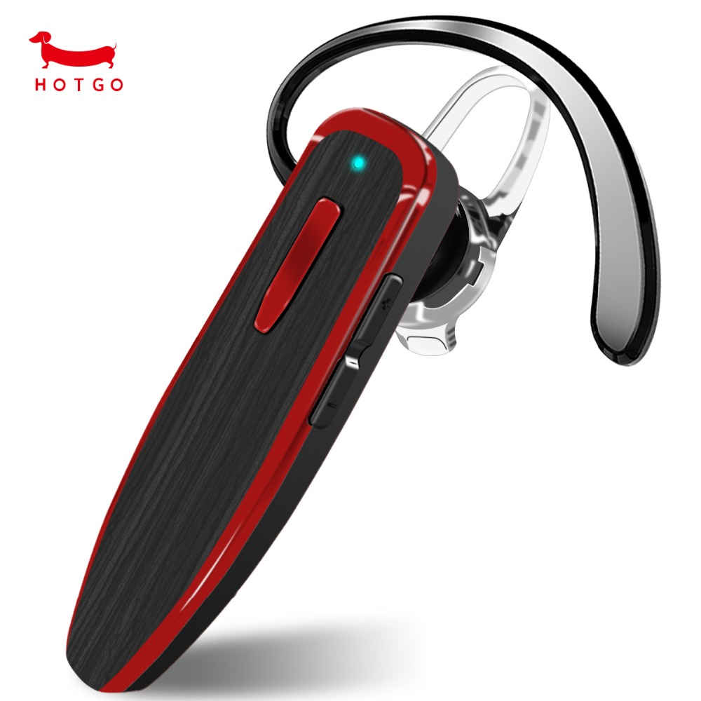 HOTGO Bluetooth Headset With Noise Cancelling Mic Wireless Earbuds With Hands-free Call Earpiece For IOS and Android Cell Phones wireless bluetooth earphones headset hands free bluetooth 4 1 earbuds earpiece with mic for samsung xiaomi