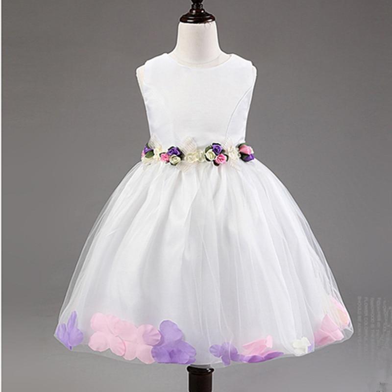 Vestido de niña de flores Fiesta de cumpleaños Vestidos de princesa - Ropa de ninos - foto 2