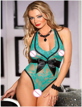 f3e39a762e Lovely Gift For Women Sexy Lingerie Lace Mesh Hollow Out Teddies  See-through Mini Bodysuit Erotic Underwear Red Green