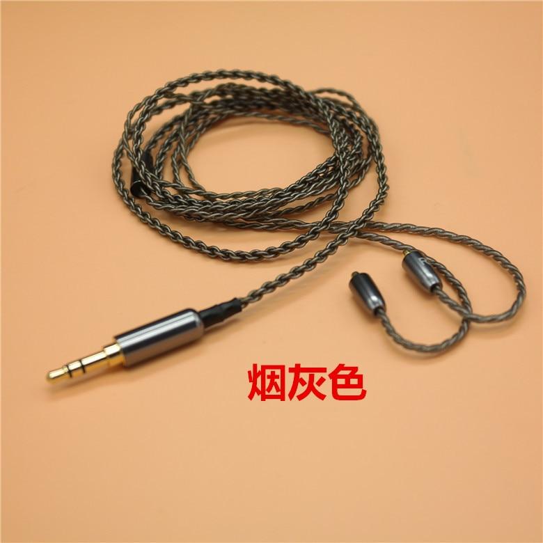 Оригинальный 10 шт. посеребренные MMCX 3,5 мм наушников аудио кабель съемная для наушников SE215 SE315 SE425 SE535 SE846 UE900