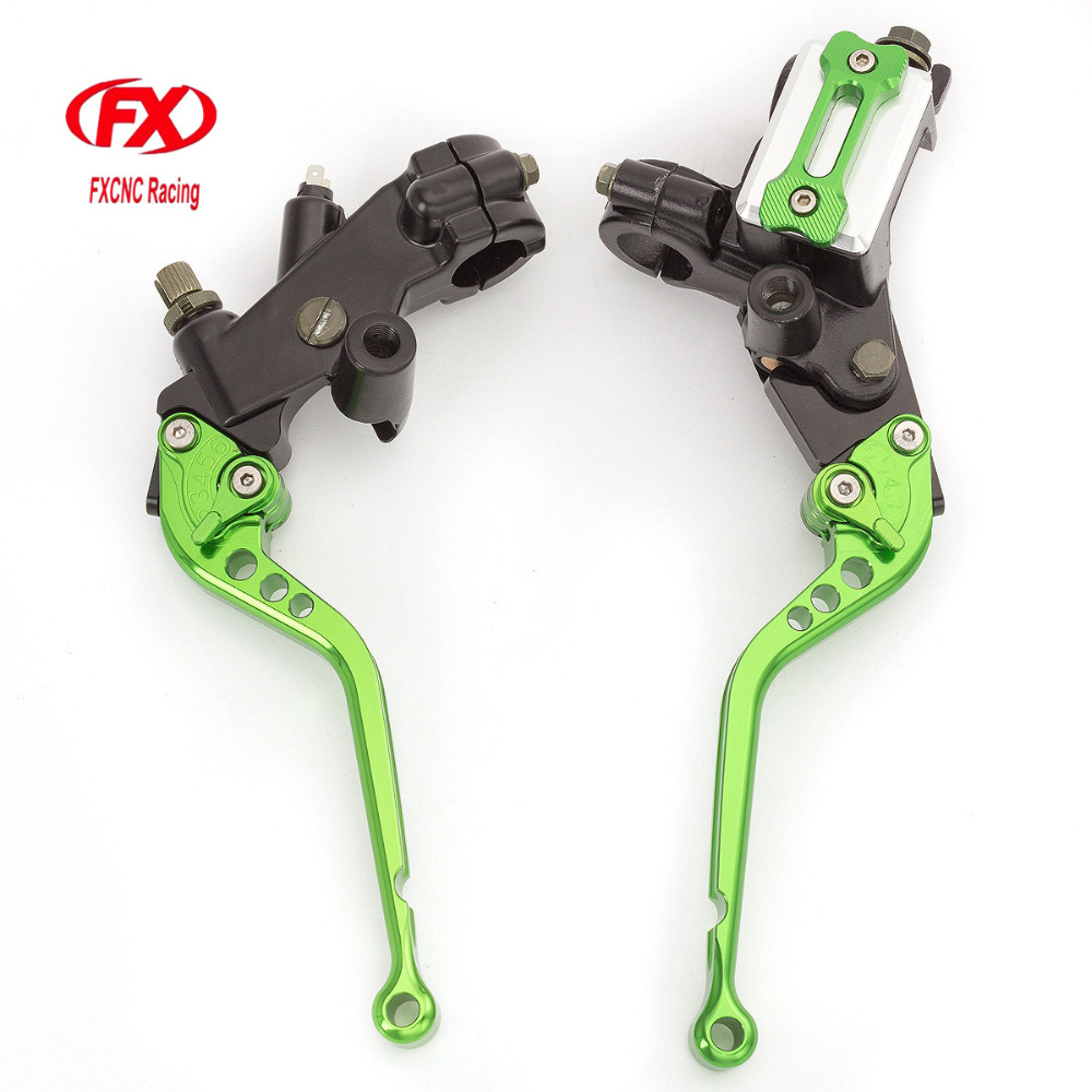 FX CNC 7/8 22mm 125-300cc Motorcycles Brake Clutch Levers Master Cylinder Reservoir Hydraulic Brake For Husqvarna SMS 125 2008 7 8 22mm universal motorcycles brake clutch levers master cylinder reservoir for suzuki 125 300cc moto hydraulic brake lever