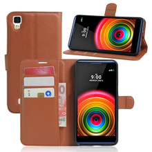 2016 Wallet PU Leather Vintage Case for LG X Power Flip Book Phone Cover with Card Holder Coque Cep Telefonu Kilifi